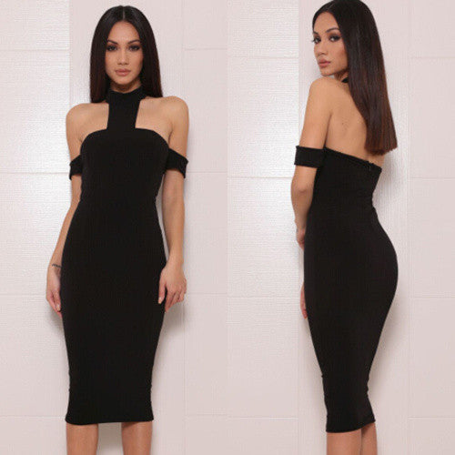 FINA Turtle Neck Cut Out Bandage Dress