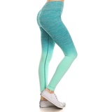 Turquoise Fade Heathered Leggings