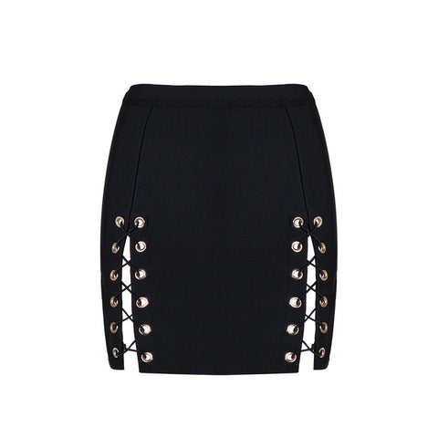 ANDI Double High Slit Mini Skirt