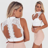 LORENA Lace Choker Crop Top