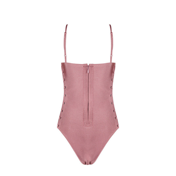 AUBREY Side Tie Bandage One-Piece