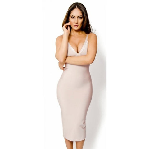 ANDREA Spaghetti Strap Bandage Cocktail Dress