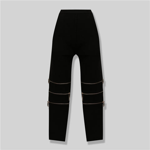 Selma Black Zippered Pants