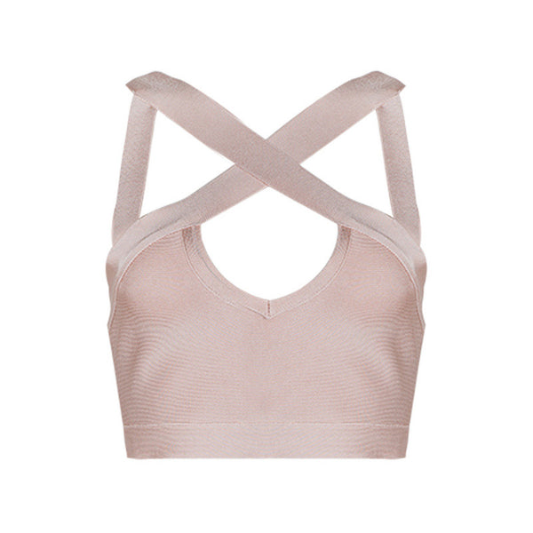 XENA Criss Cross Bandage Crop Top