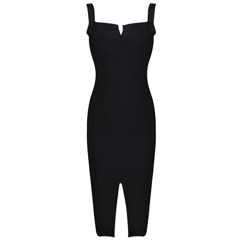 CELINE Cocktail Open Slit Bandage Dress