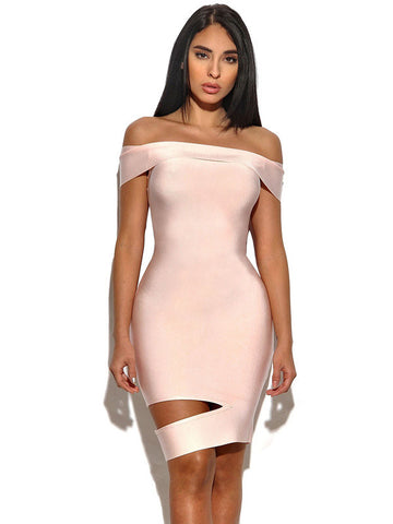 DEBI Off The Shoulder Cut Out Dress