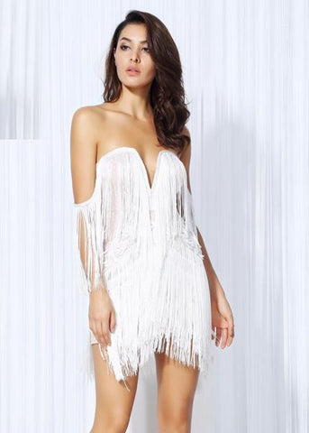 FERGIE Fringe Mini Dress