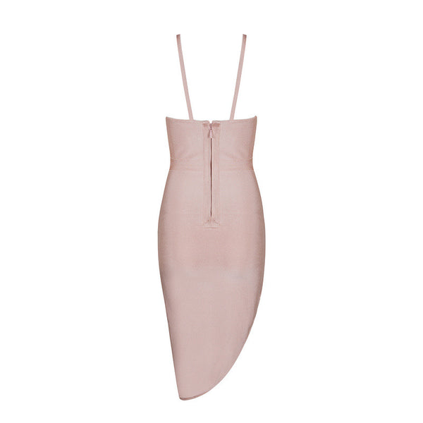 VERA Strappy Asymmetrical Cocktail Dress