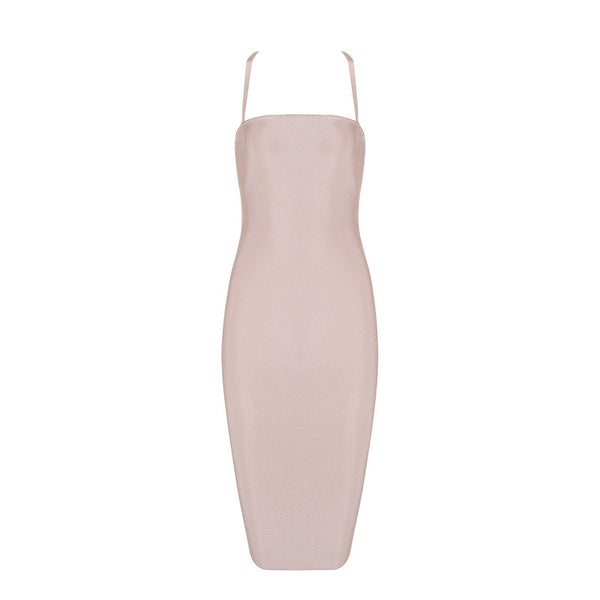 JANIE  Criss Cross Tie Back Dress