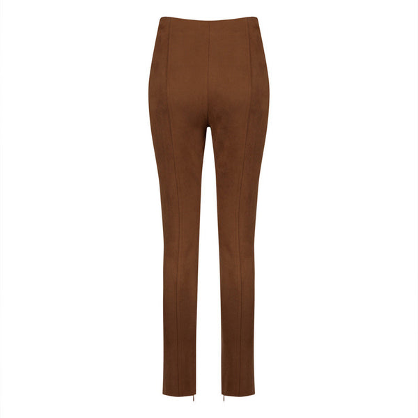 SALLY Faux Suede High Waisted Pants