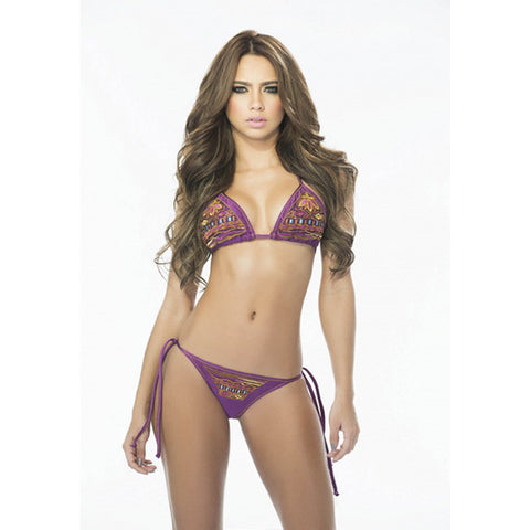 TAMMY Patterned Side-Tie Bikini