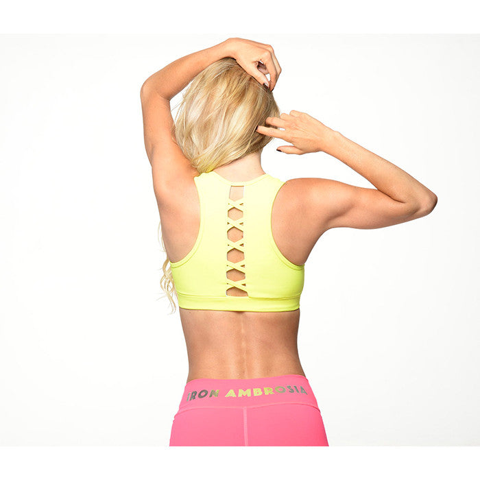 Criss-Crossed Back Sports Bra