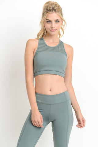 Burnout Mesh Sports Bra