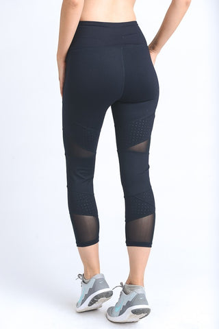 Dot and Mesh High Waist Leggings