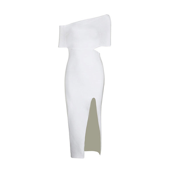 MELI Off the Shoulder Bandage Cocktail Dress