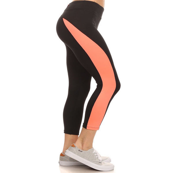 Color Stripe Workout Leggings