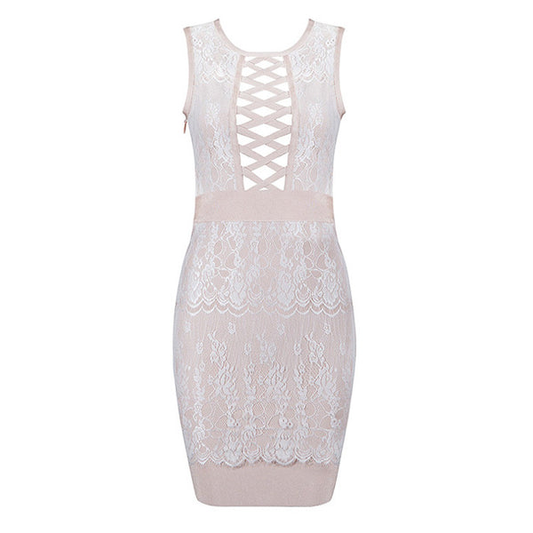 ANABELLE Lace Bandage Dress