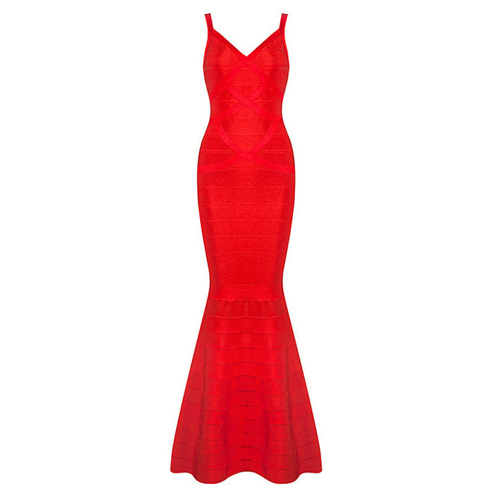DANIA Spaghetti Strap Mermaid Gown