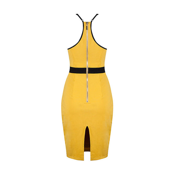 FLORENCE Spaghetti Strap Colorblock Dress