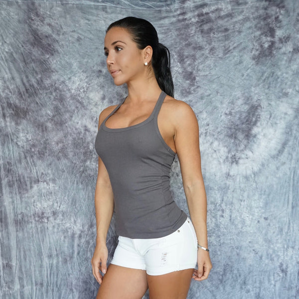 Yang Ribbed Back Tank Top