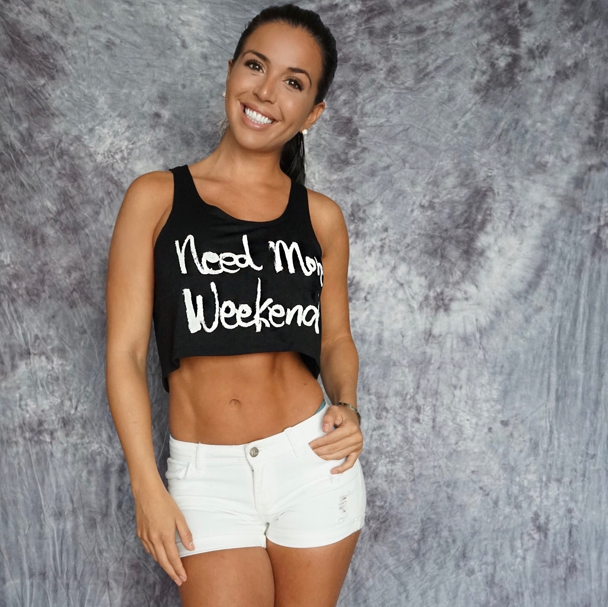 "LADY ""Need More Weekends"" Crop Tank"