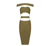 KYLIE Strapless Cut Out Bandage Cocktail Dress