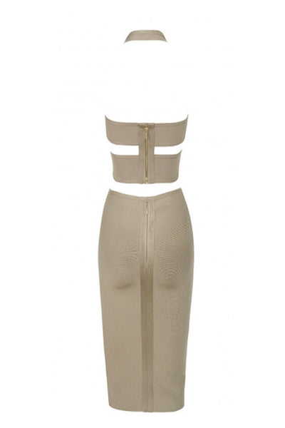 GABI Bandage Two Piece Bandage Skirt & Crop Top Set