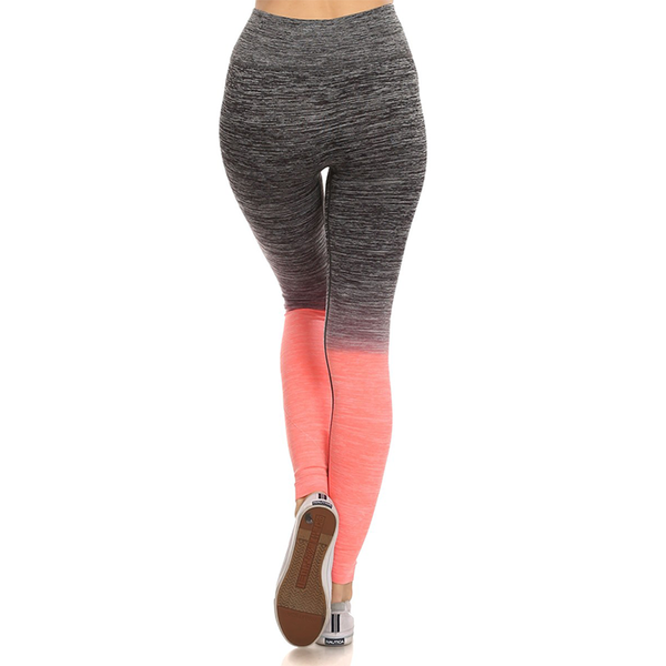 Grey and Pink Heathered Leggings
