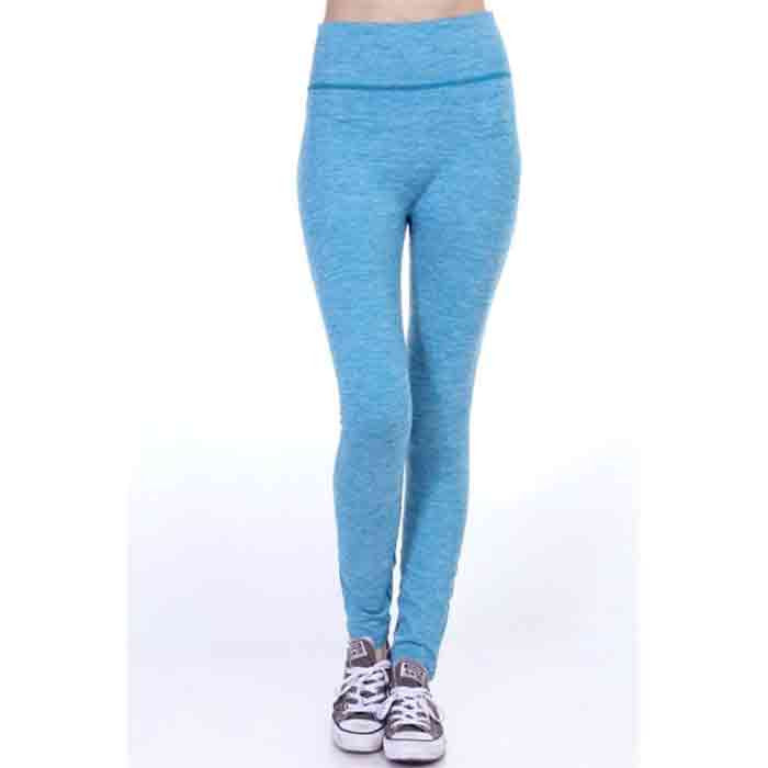 Blue Heathered Workout Leggings