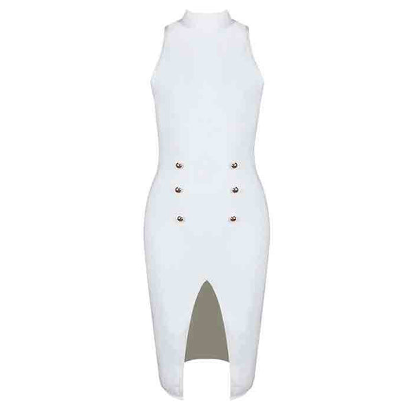 JOYCE Turtle Neck Bandage Cocktail Dress