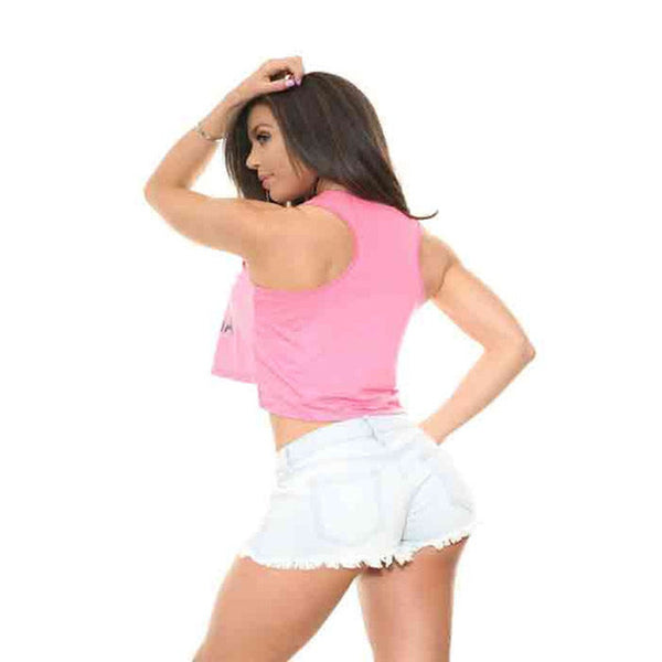 BENITA California Pink Crop Top Tank
