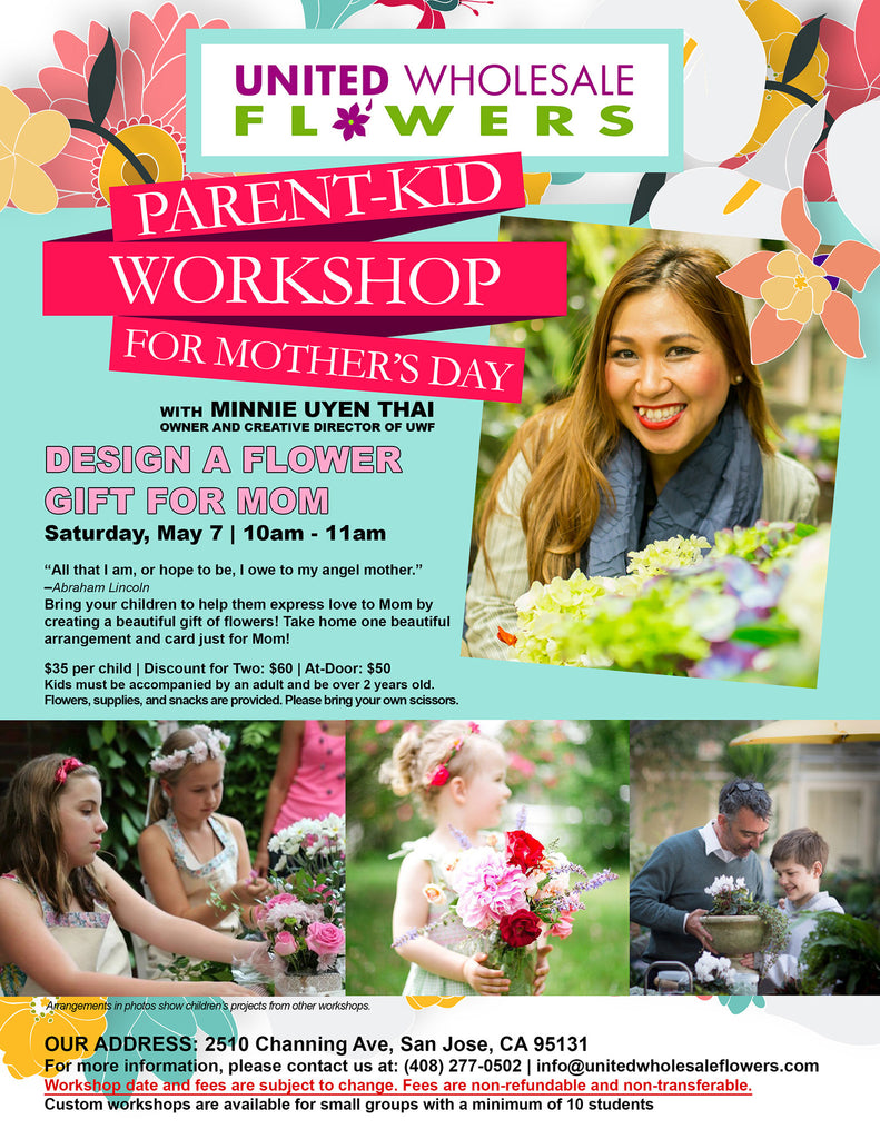 May 7 Parent-Kid Workshop for Mother's Day