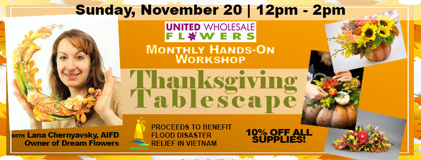 November 20 Workshop: Thanksgiving Tablescapes