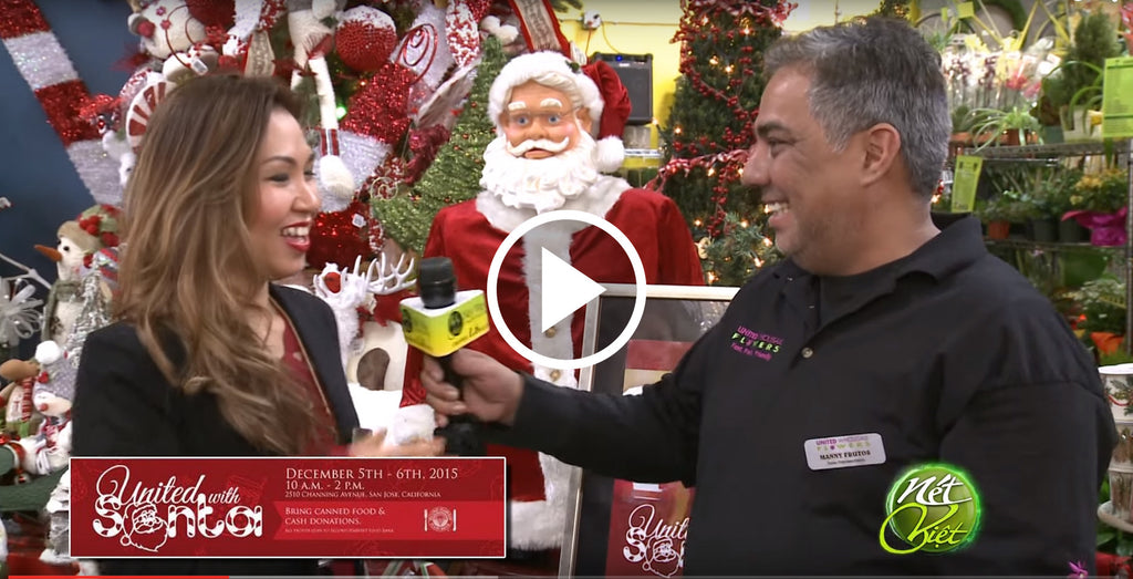 NetViet Feature on United Wholesale Flowers and Santa Event