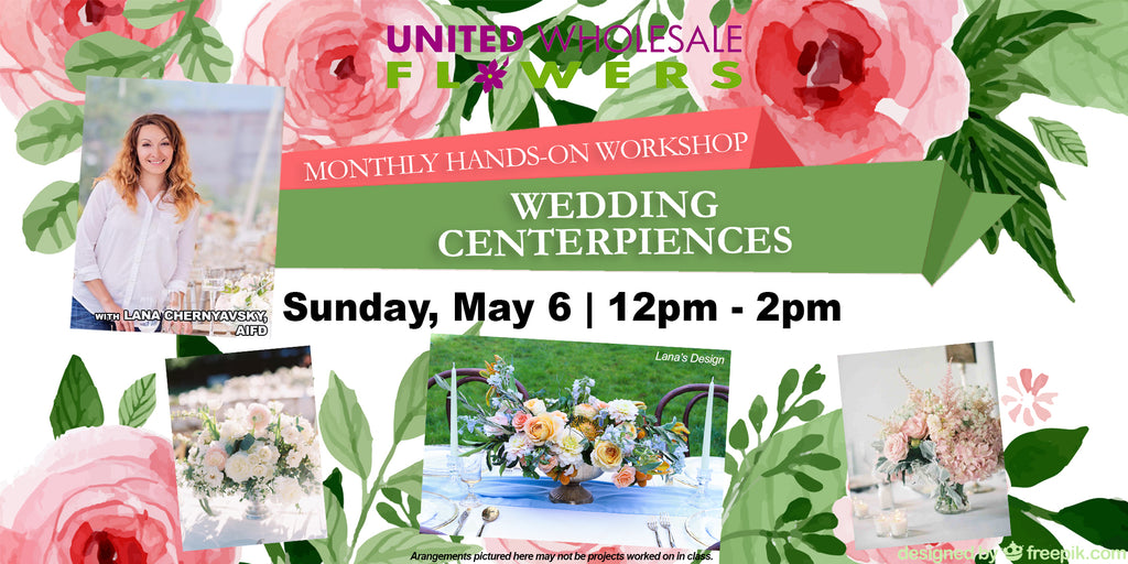 May Flower Class Wedding Centerpieces United Wholesale Flowers