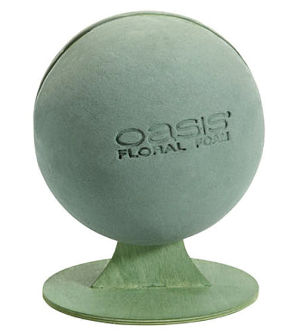 "11-1860 Floral Foam Sphere w/Stand 8"" - CS(3)"