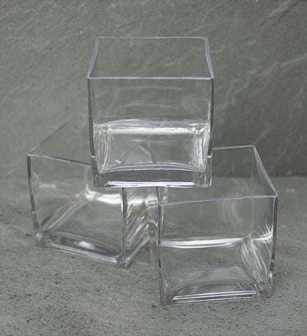 "11104 CUBE EVERYDAY 4.25"" - CLEAR - CS(24)"
