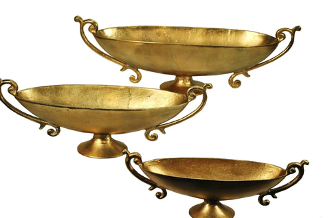 "11435 BOWL W/ HANDLE 22X8X5"" - GOLD"