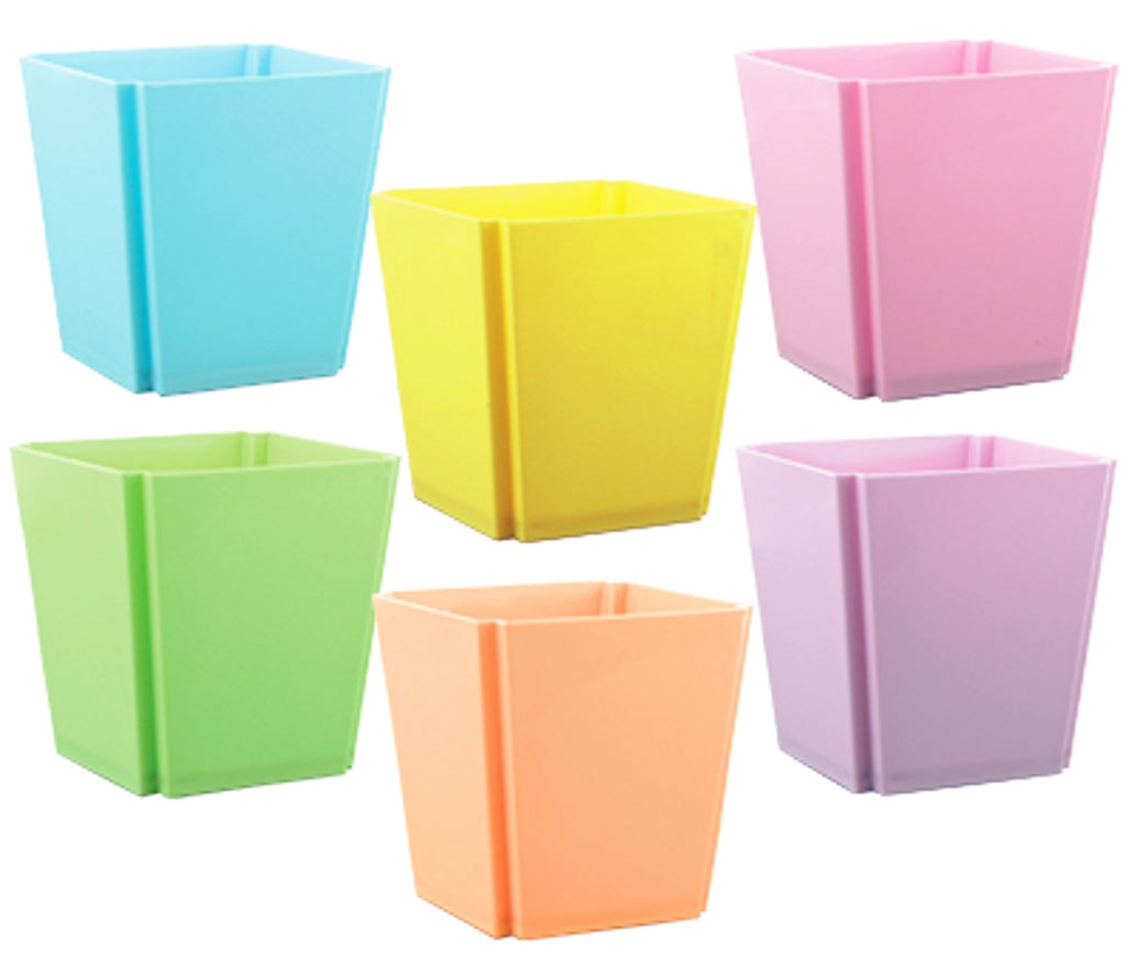 "134-24-351 4"" Tapered Square Plastic Container"