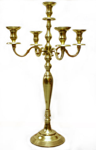 "21107 CANDELABRA 32"" GOLD  - CS(2)"