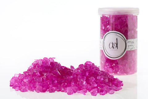 22420.09 Crushed Glass 4-10mm/ 46 oz - Hot Pink - CS(6)