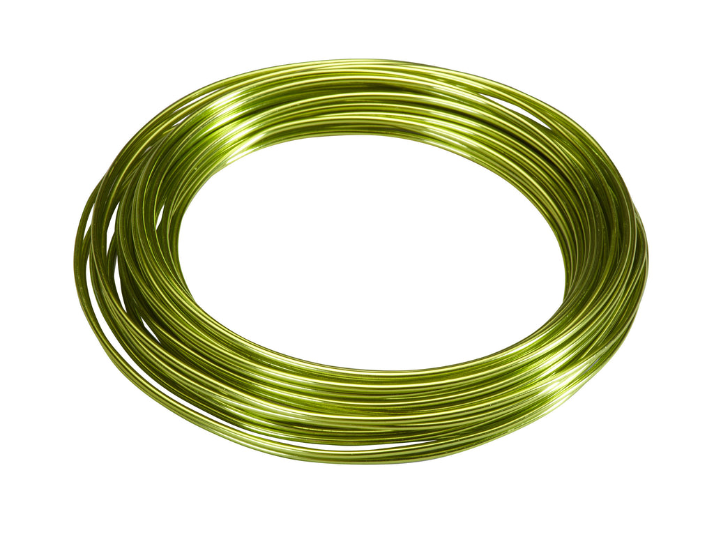 2610-AG Aluminum Wire 39' - Apple Green - CS(10)