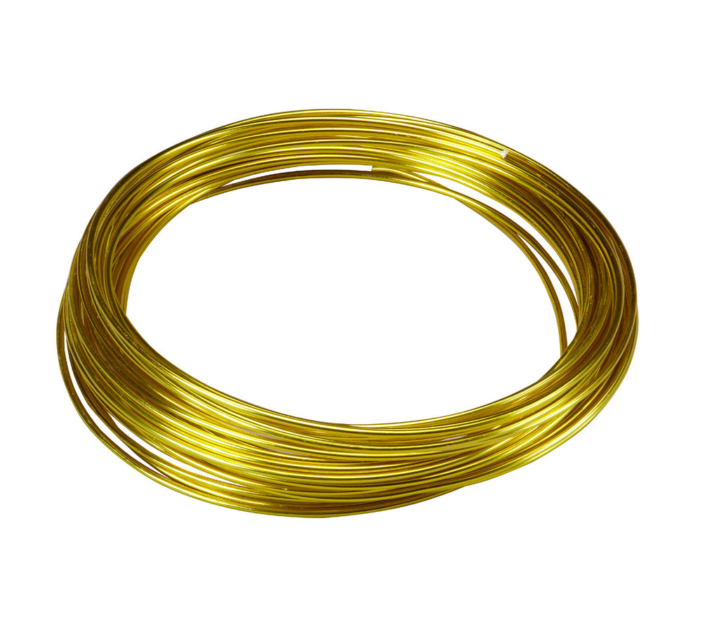 2610-Y Aluminum Wire 39' - Yellow - CS(10)