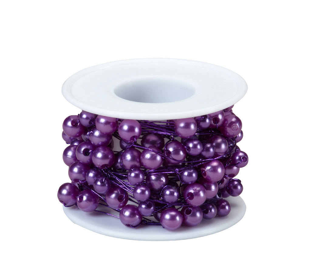 2743 Beaded Wire 26' - Purple - CS(10)