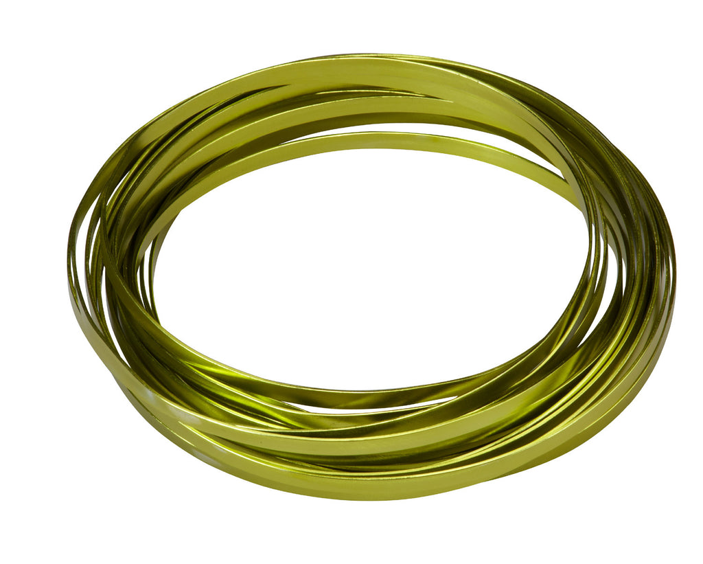 "2770-AG Flat Wire 3/16""x32.8' - Apple Green - CS(10)"