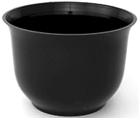 "300BK Spun Planter 8.5x6"" - Black"