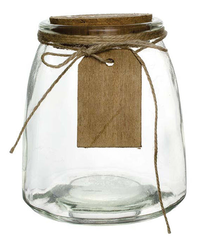 "3195-00-09 HADLEY JAR W/ CORK & HANG TAG 2.625X5"" - CS(12)"