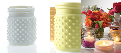 "32000.01 HOBNAIL JAR 4X5"" - WHITE - CS(24)"
