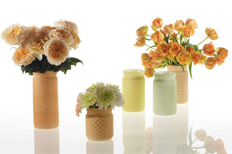 "32000.06 HOBNAIL JAR 4X5"" - PEACH - CS(24)"