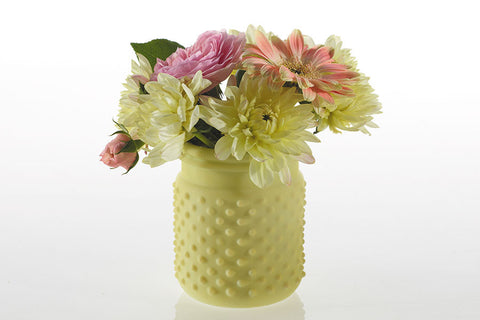 "32000.15 HOBNAIL JAR 4X5"" - LT. GREEN - CS(24)"
